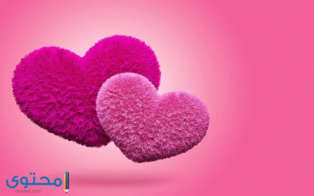 قلوب حب ملونه