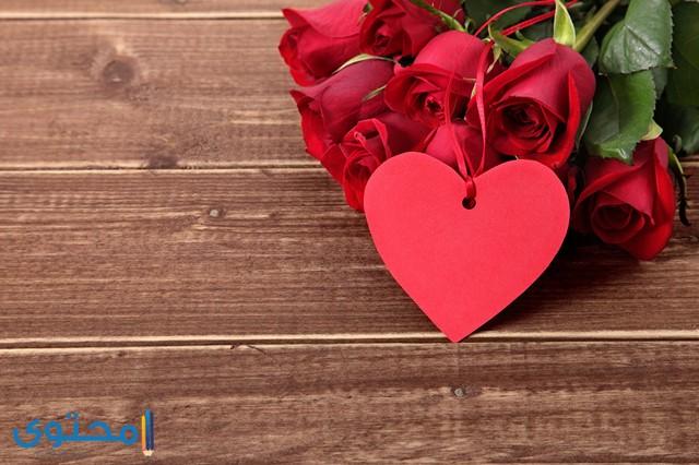 قلوب حب وورود