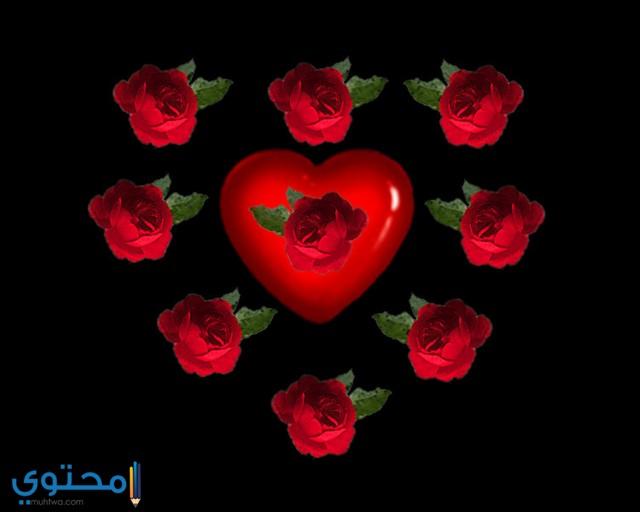 صور قلوب وورود