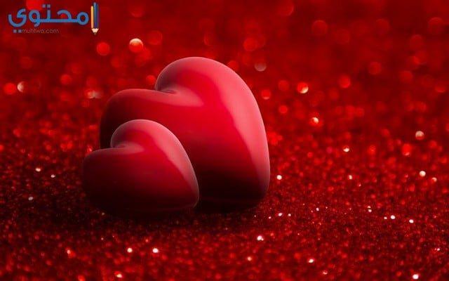قلب أحمر رومانسي