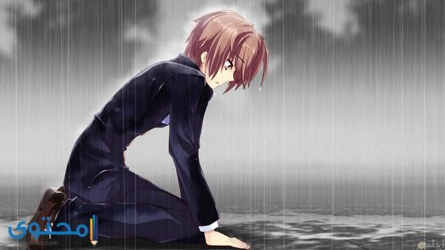 صور كرتون شباب حزينة