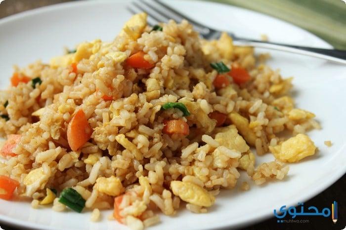 الرز الصينى بالخضار والبيبض