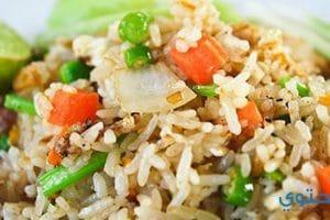 طرق عمل الرز الصيني بالخضار