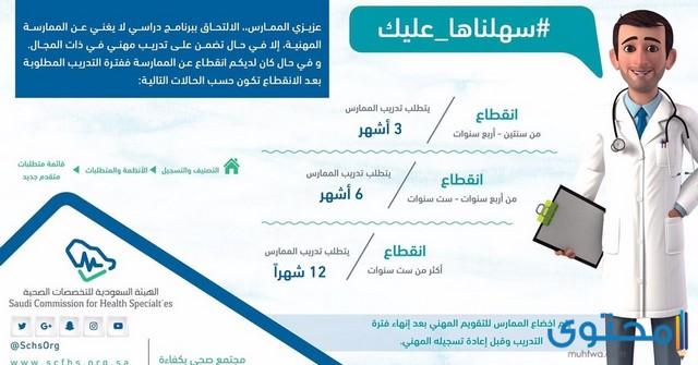 طريقة تجديد بطاقة الهيئة السعودية للتخصصات الصحية موقع محتوى