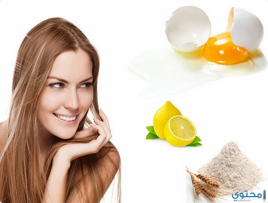 ماسك بياض البيض و الليمون