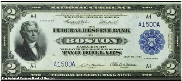 عملات ورقية ببنوك الاحتياطي الفيدرالي