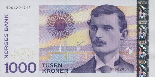 عملة النرويج ذات فئة الألف كرونة