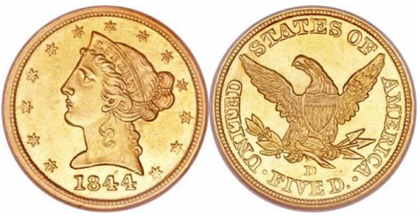 عملة الولايات المتحدة الأمريكية الذهبية