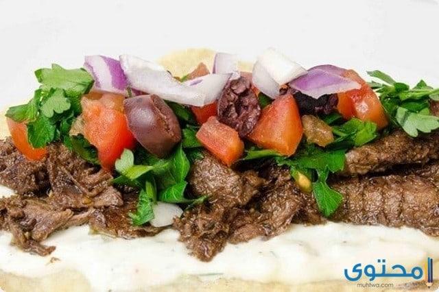 طريقة عمل شاورما اللحم بالصور