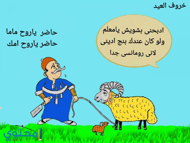 كاريكاتير خروف عيد الاضحى