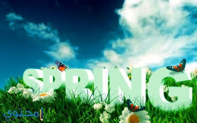 مسجات عيد الربيع بالصور