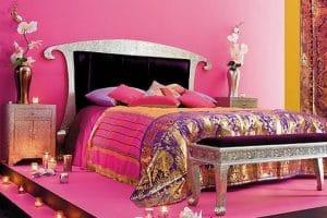 ديكورات غرف نوم على الطراز الهندي