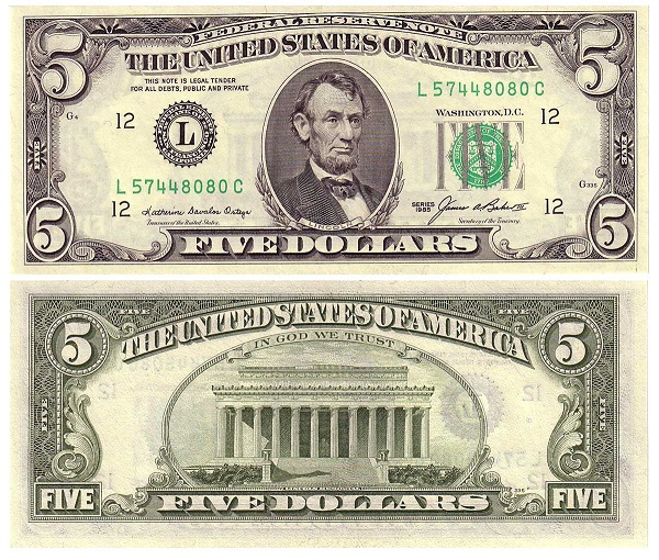 فئة خمسة دولار أمريكي