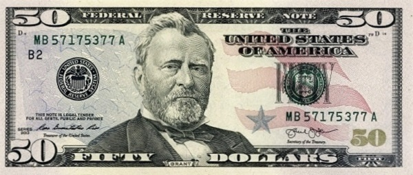فئة خمسون دولار أمريكي