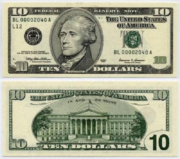 فئة عشرة دولار أمريكي