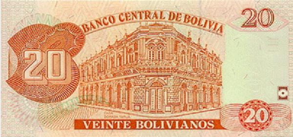 فئة عشرون بوليفيانو بوليفي