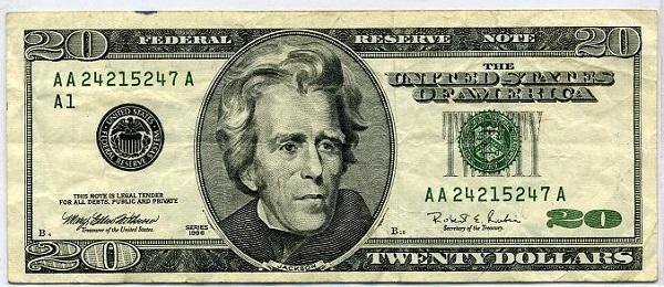 فئة عشرون دولار أمريكي