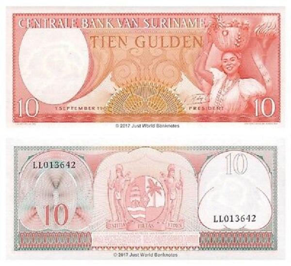 فئة 10 غيلدر سورينامي