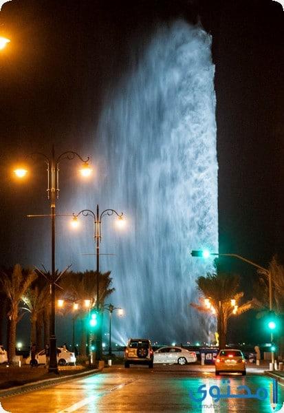 نافورة الملك فهد في مدينة جدة السعودية