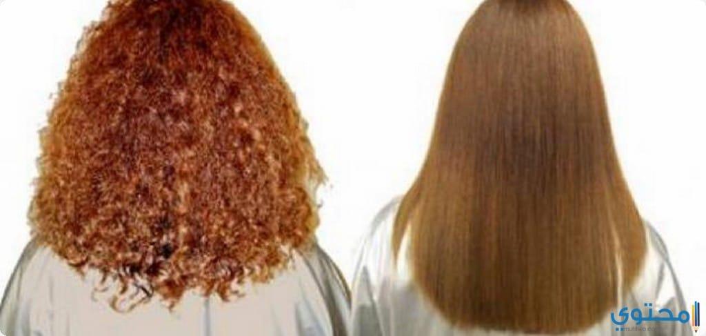 فرد الشعر المجعد بالنشا