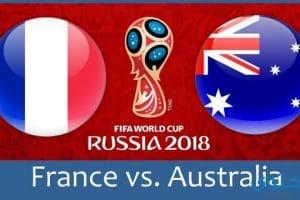 موعد مباراة فرنسا واستراليا في كاس العالم 2018
