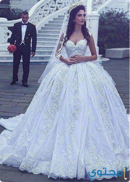 فساتين زفاف سندريلا أنيقة