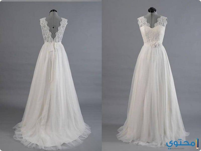 تصاميم لفساتين افراح ناعمة