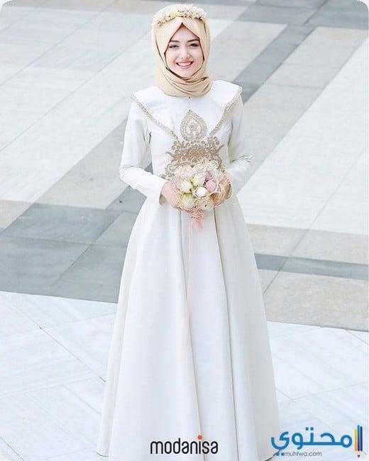204956c52f7ae احدث فساتين زفاف للمحجبات 2019 - موقع محتوى