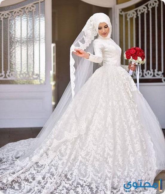 33b9a9fca4f5d احدث فساتين زفاف للمحجبات 2019 - موقع محتوى