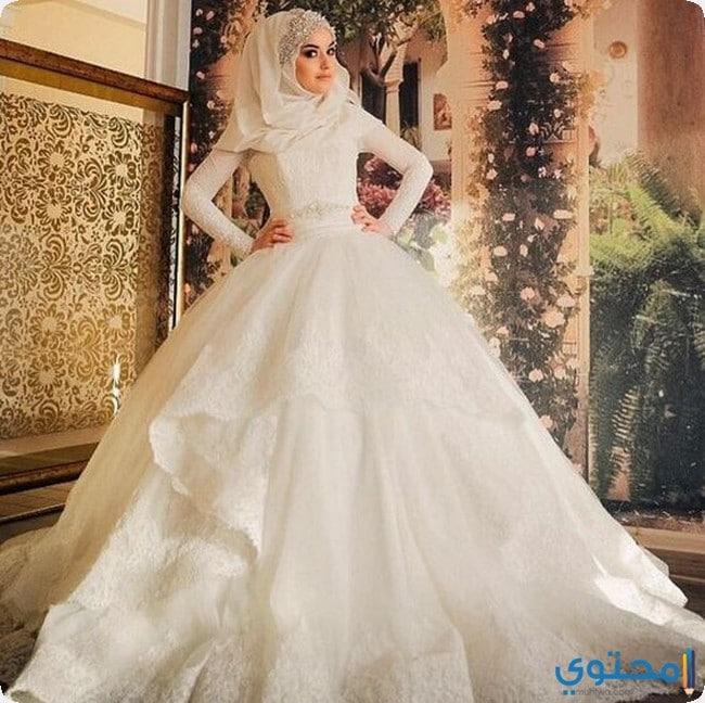 احدث فساتين زفاف للمحجبات تركية جديدة 2021 - موقع محتوى