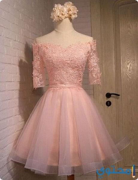 موديلات لفساتين قصيرة ناعمة