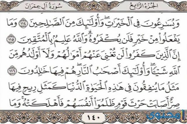 فضل قراءة سورة أل عمران4