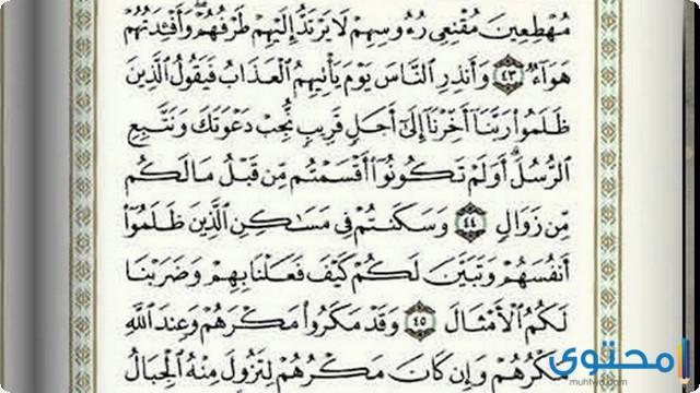 فضل قراءة سورة إبراهيم6