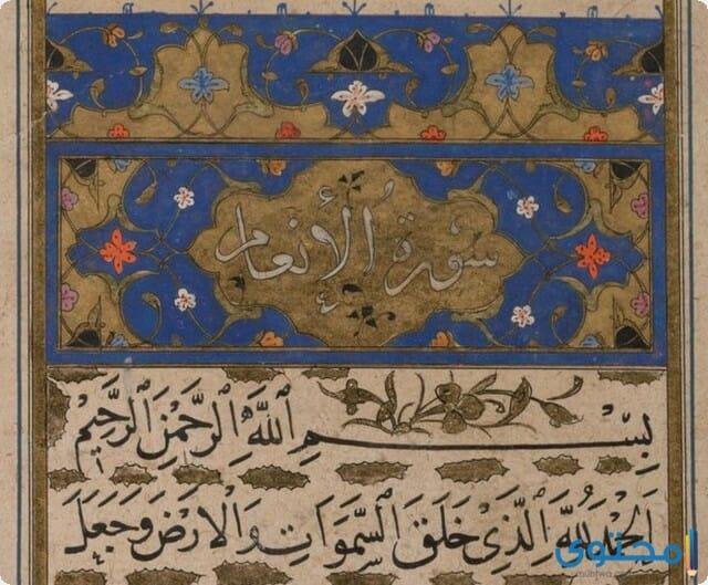 فضل قراءة سورة الأنعام2