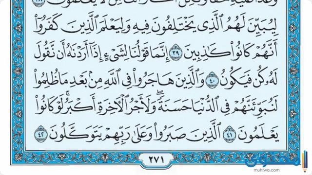 فضل قراءة سورة النحل5