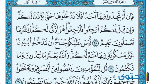 فضل قراءة سورة النور6