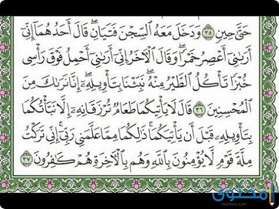 فضل قراءة سورة يوسف3