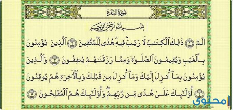 أحاديث شريفة وردت في فضل أطول سورة في القرآن الكريم موقع محتوى