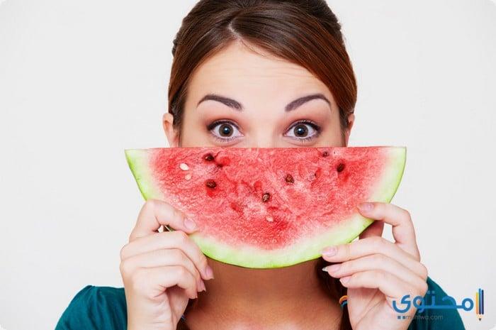 فوائد أكل البطيخ للبشرة