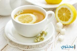 فوائد شرب الشاى بالليمون