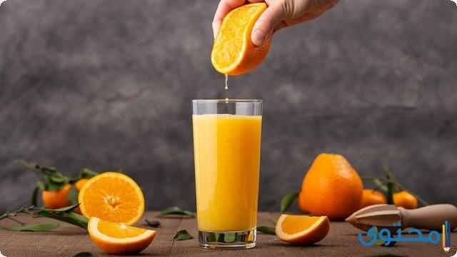 فيتامين د مع عصير البرتقال