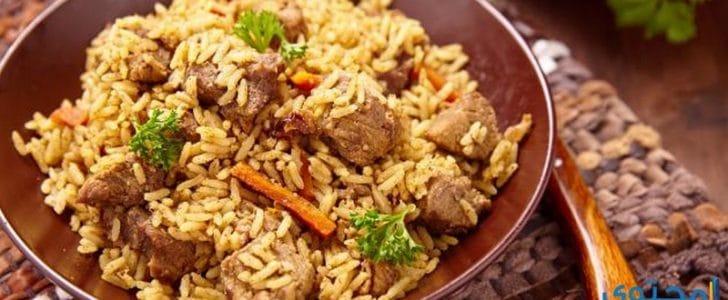 طريقة عمل أرز الكبسة باللحمة