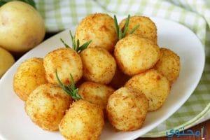 بالصور تحضير كرات البطاطس باللحمة المفرومة