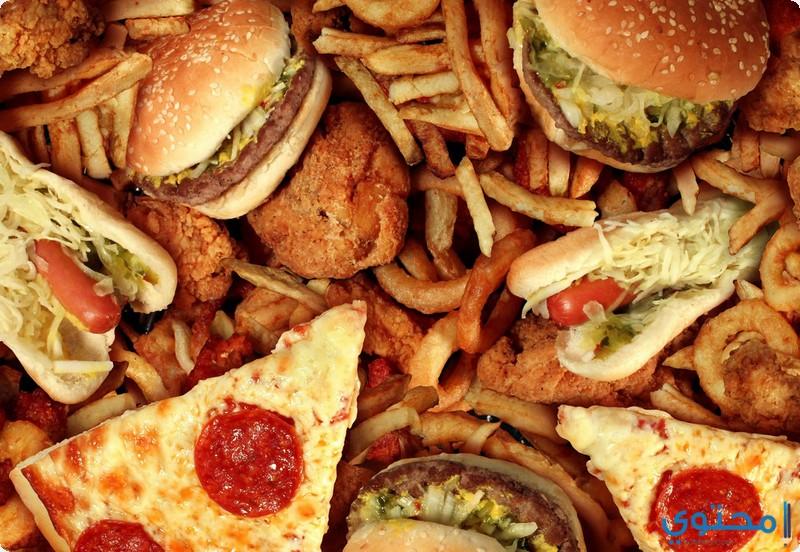 تجنب الطعام الغني بالدهون
