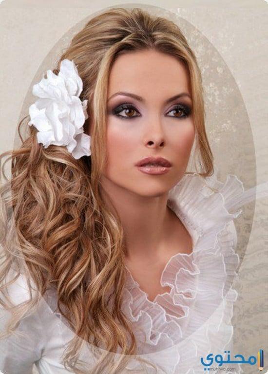 مكياج العروسة الشقراء