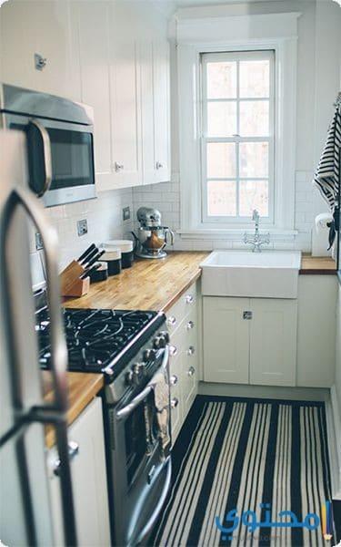 مطبخ حرف L للمساحات الصغيرة