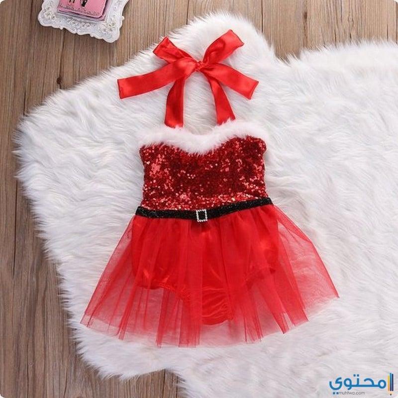 صور ملابس بنات بابا نويل