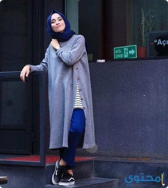 d5f7ff0a9 أزياء محجبات كاجوال شتاء 2019 - موقع محتوى