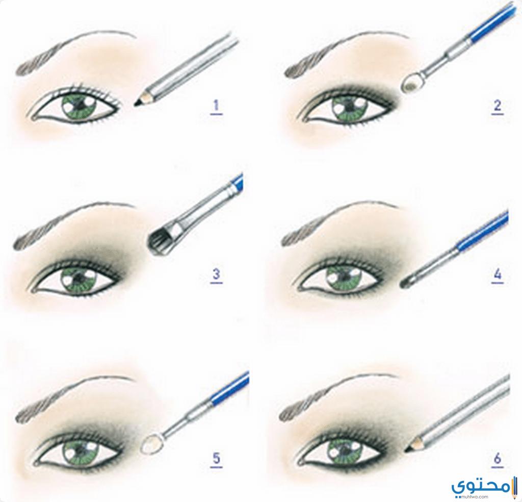 طرق رسم العيون على حسب شكل العين