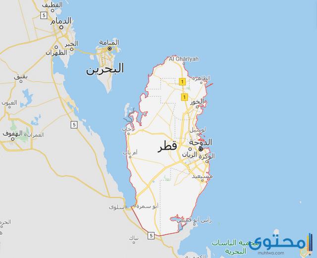 خريطة قطر
